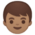 👦🏽 boy: medium skin tone Emoji on Google Platform
