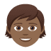 🧒🏾 child: medium-dark skin tone Emoji on Joypixels Platform