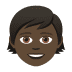 🧒🏿 child: dark skin tone Emoji on Joypixels Platform