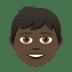 👦🏿 boy: dark skin tone Emoji on Joypixels Platform