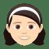 👧🏻 girl: light skin tone Emoji on Joypixels Platform