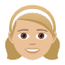 👧🏼 girl: medium-light skin tone Emoji on Joypixels Platform