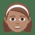👧🏽 girl: medium skin tone Emoji on Joypixels Platform