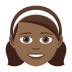 👧🏾 girl: medium-dark skin tone Emoji on Joypixels Platform