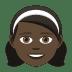 👧🏿 girl: dark skin tone Emoji on Joypixels Platform