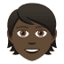 🧑🏿 person: dark skin tone Emoji on Joypixels Platform