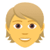 👱 person: blond hair Emoji on Joypixels Platform