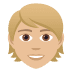 👱🏼 person: medium-light skin tone, blond hair Emoji on Joypixels Platform