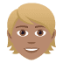 👱🏽 person: medium skin tone, blond hair Emoji on Joypixels Platform