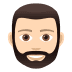 🧔🏻 man: light skin tone, beard Emoji on Joypixels Platform
