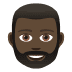 🧔🏿 man: dark skin tone, beard Emoji on Joypixels Platform