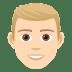 👱🏻♂️ man: light skin tone, blond hair Emoji on Joypixels Platform