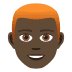👨🏿‍🦰 man: dark skin tone, red hair Emoji on Joypixels Platform