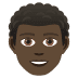 👨🏿‍🦱 man: dark skin tone, curly hair Emoji on Joypixels Platform