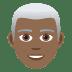 👨🏾🦳 man: medium-dark skin tone, white hair Emoji on Joypixels Platform