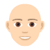 👨🏻‍🦲 man: light skin tone, bald Emoji on Joypixels Platform