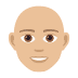👨🏼‍🦲 man: medium-light skin tone, bald Emoji on Joypixels Platform