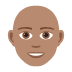 👨🏽‍🦲 Medium Skin Tone Bald Man Emoji on JoyPixels Platform
