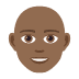 👨🏾🦲 man: medium-dark skin tone, bald Emoji on Joypixels Platform