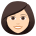 👩🏻 woman: light skin tone Emoji on Joypixels Platform
