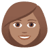 👩🏽 woman: medium skin tone Emoji on Joypixels Platform