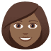 👩🏾 Medium Dark Skin Tone Woman Emoji on JoyPixels Platform