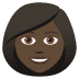 👩🏿 woman: dark skin tone Emoji on Joypixels Platform