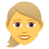 👱♀️ woman: blond hair Emoji on Joypixels Platform