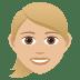 👱🏼♀️ woman: medium-light skin tone, blond hair Emoji on Joypixels Platform