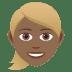 👱🏾♀️ woman: medium-dark skin tone, blond hair Emoji on Joypixels Platform