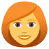 👩‍🦰 woman: red hair Emoji on Joypixels Platform