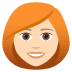 👩🏻‍🦰 Light Skin Tone Red Hair Woman Emoji on JoyPixels Platform