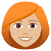 👩🏼‍🦰 woman: medium-light skin tone, red hair Emoji on Joypixels Platform