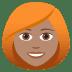 👩🏽🦰 woman: medium skin tone, red hair Emoji on Joypixels Platform