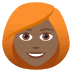👩🏾‍🦰 woman: medium-dark skin tone, red hair Emoji on Joypixels Platform