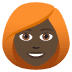 👩🏿‍🦰 woman: dark skin tone, red hair Emoji on Joypixels Platform