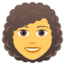 👩‍🦱 woman: curly hair Emoji on Joypixels Platform