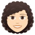👩🏻‍🦱 woman: light skin tone, curly hair Emoji on Joypixels Platform
