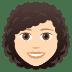 👩🏻🦱 woman: light skin tone, curly hair Emoji on Joypixels Platform