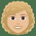 👩🏼🦱 woman: medium-light skin tone, curly hair Emoji on Joypixels Platform