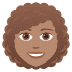 👩🏽🦱 woman: medium skin tone, curly hair Emoji on Joypixels Platform