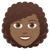👩🏾‍🦱 woman: medium-dark skin tone, curly hair Emoji on Joypixels Platform