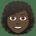👩🏿🦱 woman: dark skin tone, curly hair Emoji on Joypixels Platform