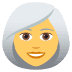 👩‍🦳 woman: white hair Emoji on Joypixels Platform