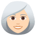 👩🏻‍🦳 woman: light skin tone, white hair Emoji on Joypixels Platform