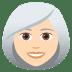 👩🏻🦳 woman: light skin tone, white hair Emoji on Joypixels Platform