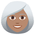 👩🏽‍🦳 woman: medium skin tone, white hair Emoji on Joypixels Platform