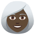 👩🏿‍🦳 woman: dark skin tone, white hair Emoji on Joypixels Platform
