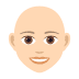👩🏻‍🦲 woman: light skin tone, bald Emoji on Joypixels Platform