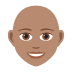 👩🏽‍🦲 woman: medium skin tone, bald Emoji on Joypixels Platform
